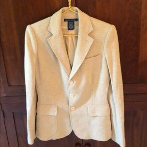 Beautiful herringbone jacket ; cotton/silk